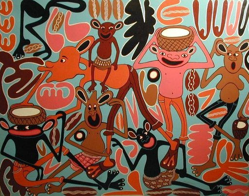 George LILANGA - Pintura - Nana Familia