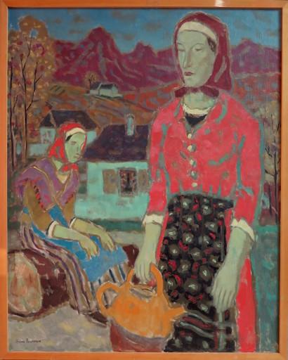 André REGAGNON - Painting - Paysannes