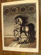 "Franz PRIKING (1929-1979) - ""Homme et cheval""1970."