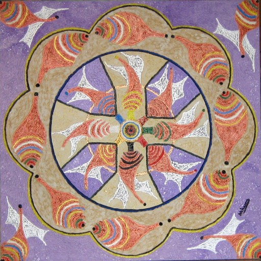 ATCHAMA - Painting - danse astrale