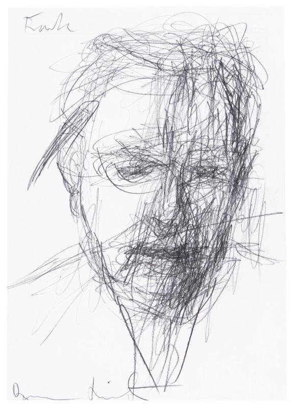 "Damien HIRST - Drawing-Watercolor - ""Frank"""