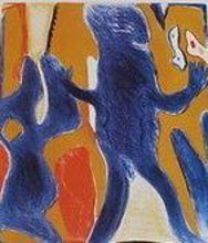 Horst ANTES - Grabado - Blaue Figur