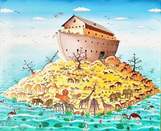 Roger DJIGUEMDÉ - Painting - Renaissance Arche de Noé