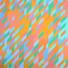 Bridget RILEY - Peinture - 3rd Study for painting with blue and green passages