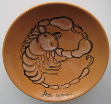 Jean MARAIS - Céramique - COUPELLE CÉRAMIQUE SCORPION SIGNÉE SIGNED CERAMIC