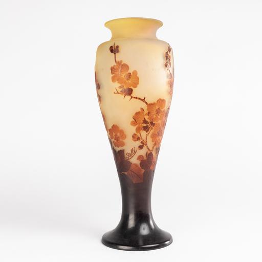 艾米里·加利 - Emile Gallé (1846-1904), vase aux cerisiers, XIXe