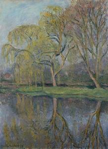 Blanche HOSCHÉDÉ-MONET - Painting - Le Printemps, Le bassin aux nymphéas à Giverny