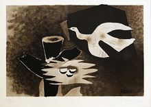 Georges BRAQUE - Estampe-Multiple - L'Oiseau et son Nid