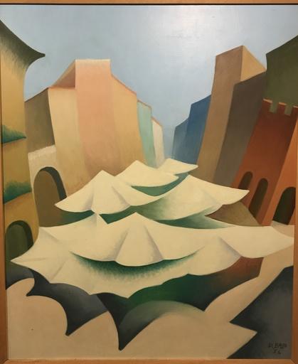Renato DI BOSSO - Pintura - Piazza delle Erbe , sintesi plastica