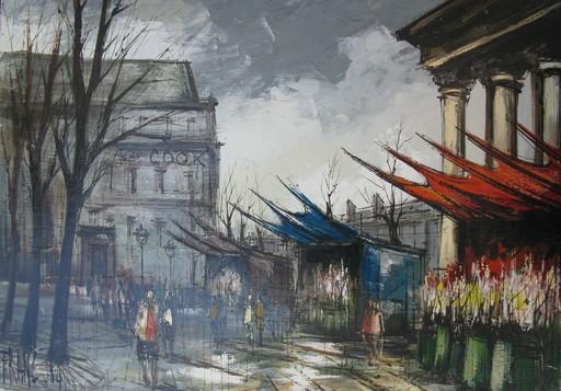 François FRANC - Painting - La Madeleine Quai aux Fleurs