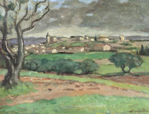 Albert ANDRÉ - Painting - Vue de Rochefort Garse