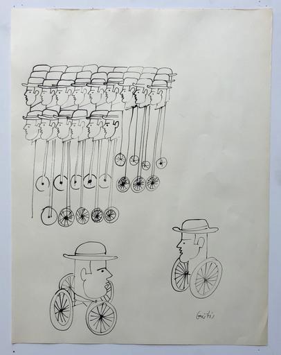 Yannis GAITIS - Drawing-Watercolor - Senza titolo