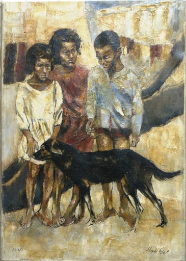 Moshe GAT - Painting - Best Friends