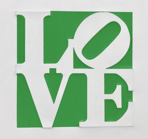 Robert INDIANA - Estampe-Multiple - MY LOVE MY LOVE IS GONE TO YOU