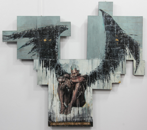 Guy DENNING - Peinture - PER CH'UNA GENTE IMPERA E L'ALTRA LANGUE , SEGUENDO...