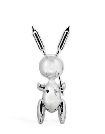 Jeff KOONS - Sculpture-Volume - Ballon Rabbit Silver