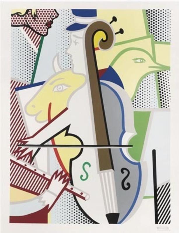 Roy LICHTENSTEIN - Stampa Multiplo - Cubist Cello