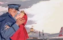Paul C. BURNS (1910-1990) - Airport Farewell