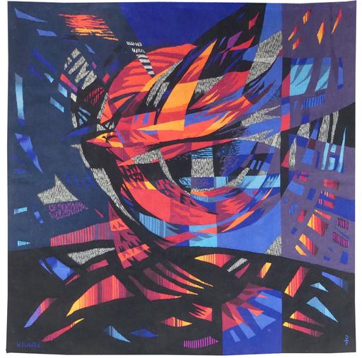 Camille HILAIRE - Tapisserie - l'oiseau de feu