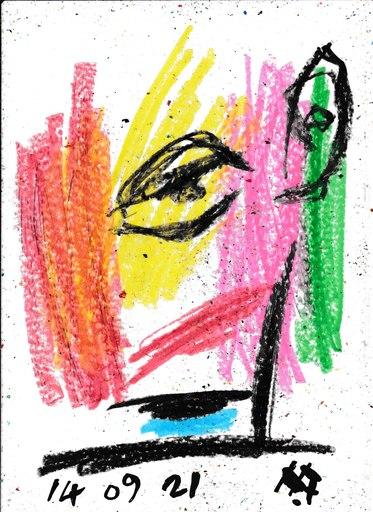 Harry BARTLETT FENNEY - Disegno Acquarello - myrtle (14 09 21)