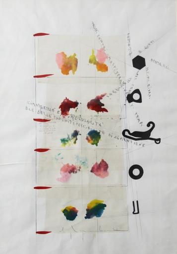 Alighiero BOETTI - Drawing-Watercolor - Simmetria e specularità