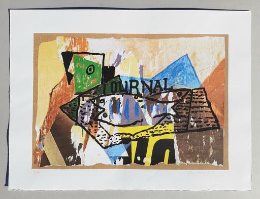 Mimmo ROTELLA - Estampe-Multiple - Il giornale di Picasso