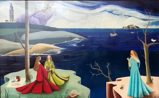 Urbano LUGRIS GONZALEZ - Gemälde - ESCENA EN LA CORUÑA