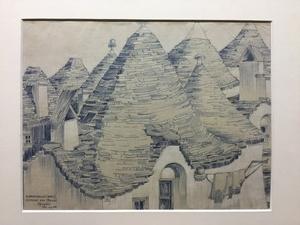 Luigi ANGELINI - Drawing-Watercolor - Alberobello (Bari)  CUPOLE DEI TRULLI