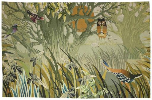 René FUMERON - Tapestry - Forêt joyeuse
