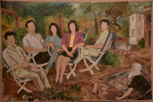 Maqbool Fida HUSAIN - Pintura - Family
