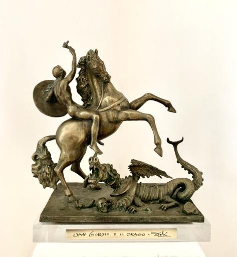 Salvador DALI - Sculpture-Volume - San Giorgio e il drago