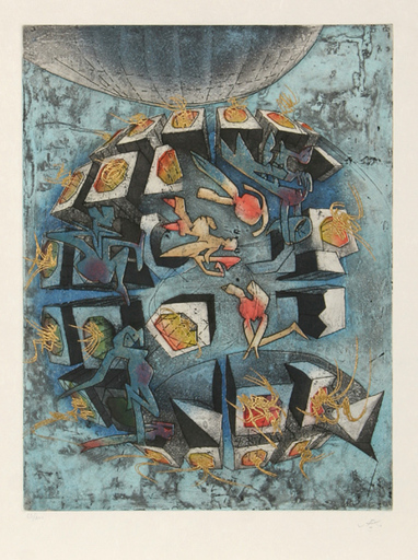 Roberto MATTA - Estampe-Multiple - Hom'mere V - N'ous Portfolio of 10 Aquatints