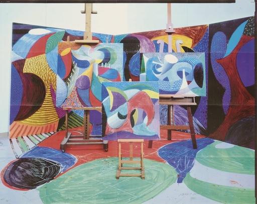 David HOCKNEY - Estampe-Multiple - Painted environment II