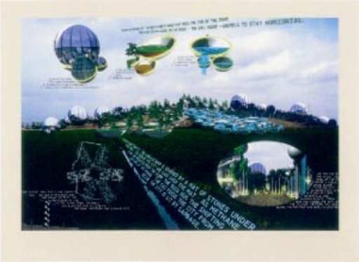 Vito ACCONCI - Print-Multiple - The City that Rides a Garbage Dump