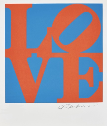 Robert INDIANA - Estampe-Multiple - Love #1 (from the Book of Love)