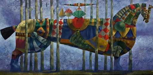 Bobur ISMOILOV - Peinture - Roxana Bride for the king