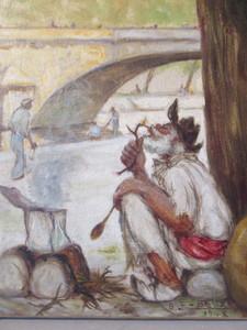 Gaston LE BEUZE - Pintura - La tambouille