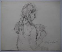 Françoise ADNET - Dibujo Acuarela - DESSIN ORIGINAL AU CRAYON SIGNÉ HANDSIGNED DRAWING