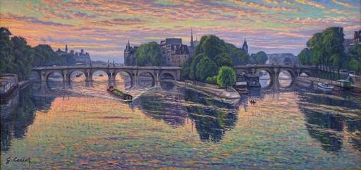 Gustave CARIOT - 绘画 - Pont Neuf, Paris