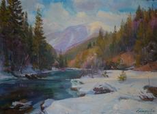 Vasil SVALJAVCIK - Pintura - Morgen in den Karpaten