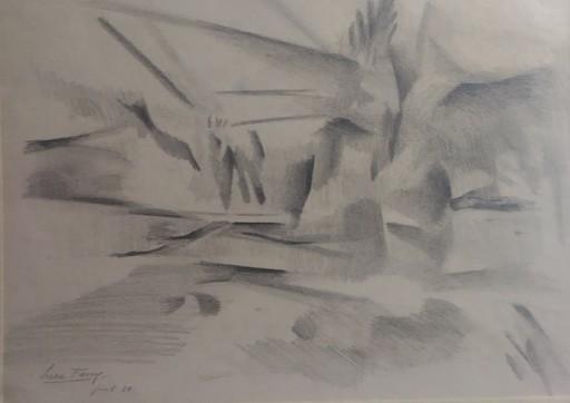 Luce FERRY - Dibujo Acuarela - PAYSAGE CUBIQUE
