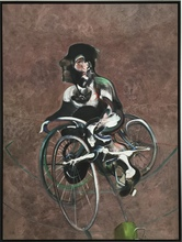 Francis BACON (1909-1992) - Portrait of George Dyer Riding a Bicycle, 1966