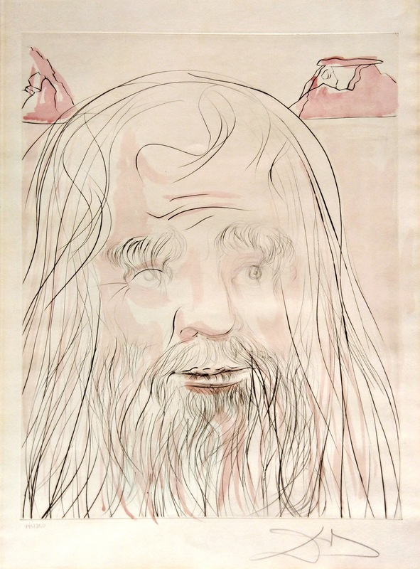 萨尔瓦多·达利 - 版画 - Tribute to Leonardo: Leonardo