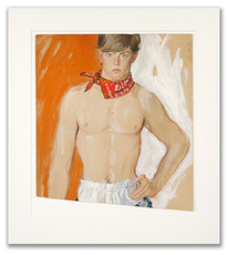 Brian Julian STONEHOUSE - Drawing-Watercolor - Male Portrait