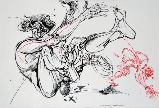 Vladimir VELICKOVIC - Disegno Acquarello - Mov. Fig.
