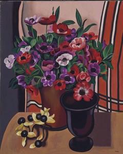 Auguste HERBIN - Pittura - Les anémones