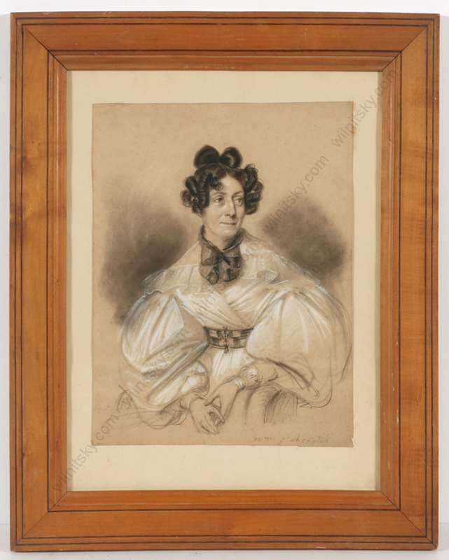 "Julien Léopold BOILLY - Drawing-Watercolor - ""Laure-Adelaide Junot, Duchess d'Abrantes"""