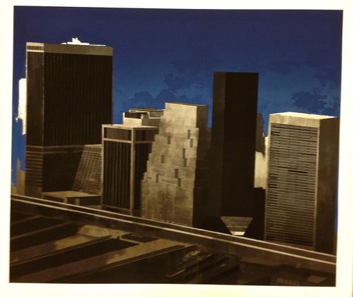 Jorge CASTILLO - Grabado - Wall street, Night