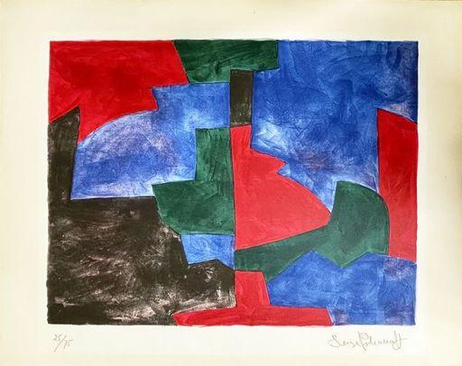 Serge POLIAKOFF - Print-Multiple - Composition verte, rouge et bleue  n°64