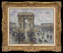 Gustave LOISEAU - Painting - La Place de l'Étoile, Temps Pluvieux